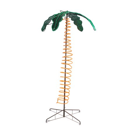 7' Tropical Lighted Holographic Rope Light Outdoor Palm Tree Yard Decoration thumbnail