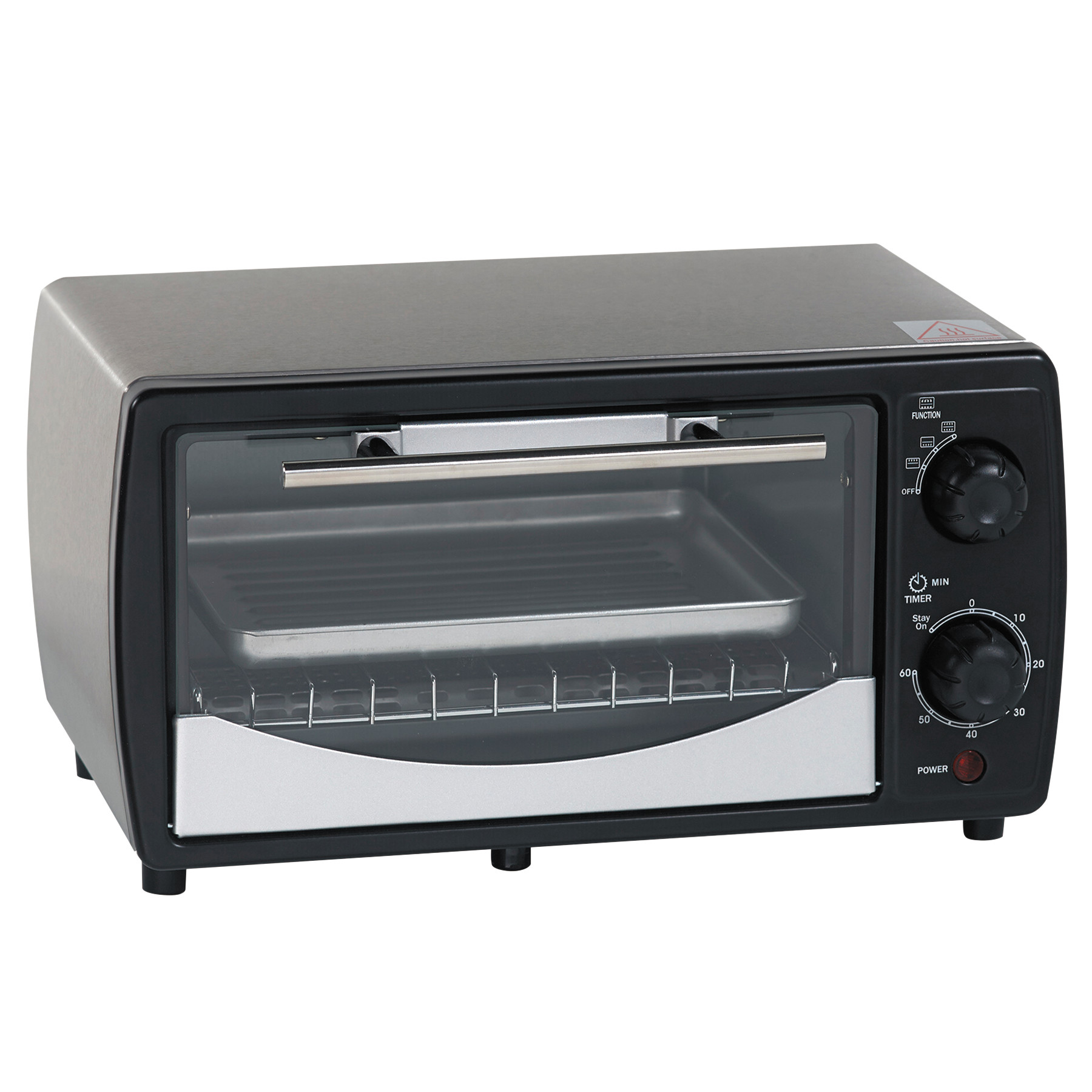 Avanti Toaster Oven, 0.32 cu ft Capacity, Stainless Steel Black, 14 1 2 x 11 1 2 x 8 by Avanti