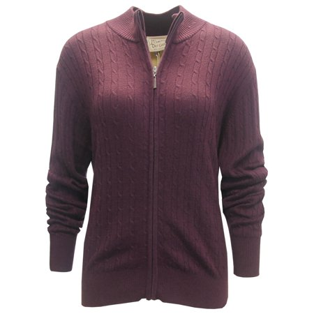 Mcilhenny Mcilhenny Ladies Cable Knit Full Zip Golf Sweater By
