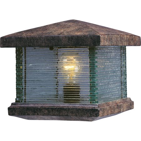 Maxim 48736CL Earth Tone 1 Light Up Lighting Deck Lantern From The Triumph Vx (Vx Collection)