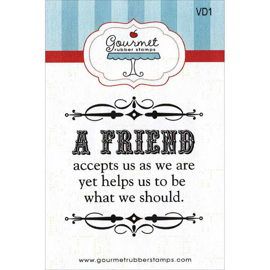 "Gourmet Rubber Stamps Cling Stamps, 2.75"" x 4.75"""