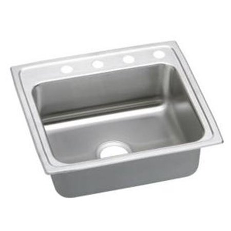 Phenomenal Elkay Lrad2219553 18 Gauge Stainless Steel 22 X 19 5 X 5 5 In Single Bowl Top Mount Sink Home Interior And Landscaping Palasignezvosmurscom