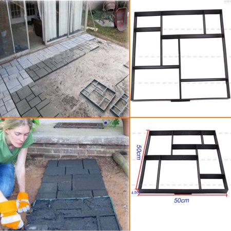 Garden Driveway Paving Pavement Mold Concrete Stepping Stone Path Walk Maker US ()