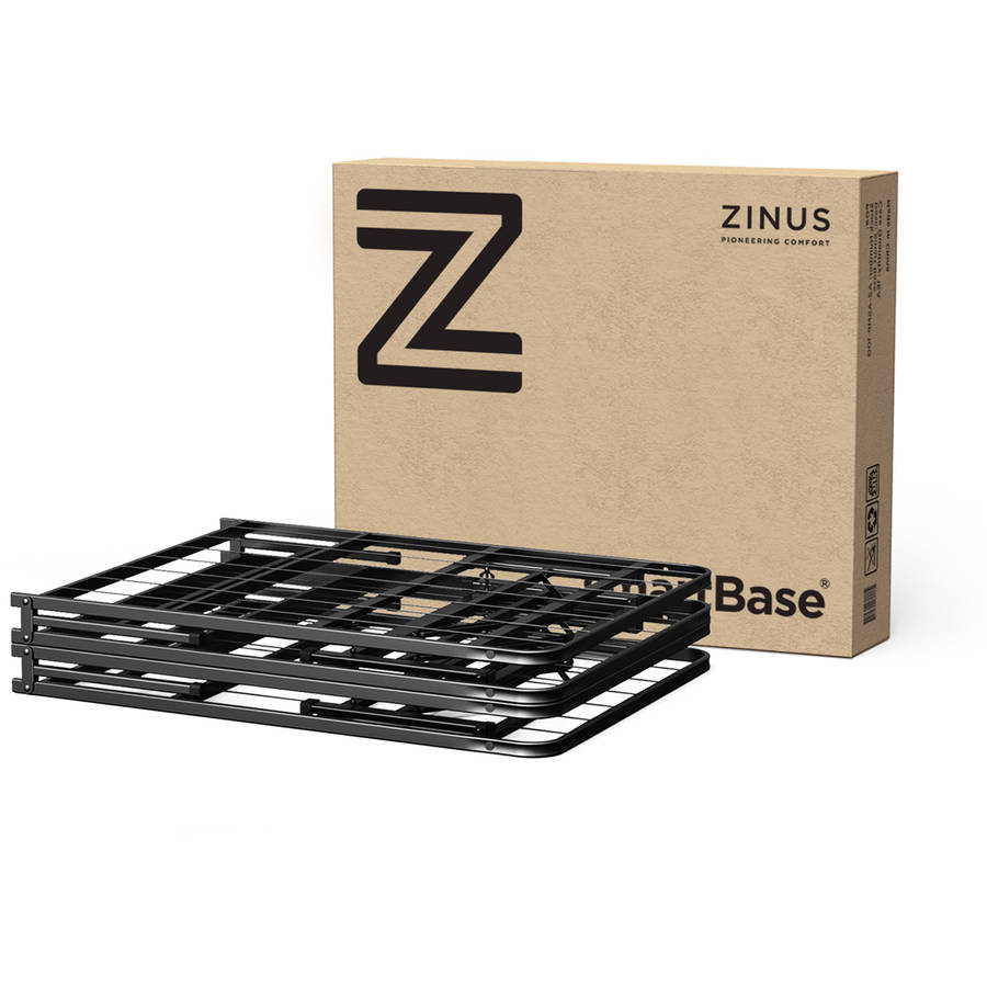 spa sensations steel smart base bed frame black multiple sizes walmartcom