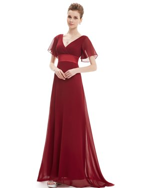 18a80820aac Product Image Ever-Pretty Women s Short Sleeve Chiffon V Neck Long Maxi  Formal Evening Party Bridesmaid Dresses