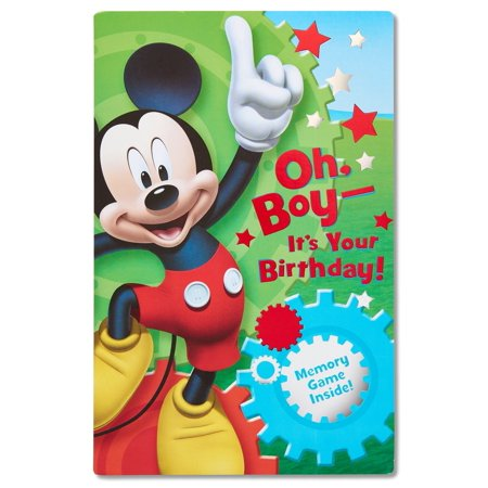 American Greetings Mickey Mouse Birthday Card for Boy with Memory Game](Mickey Mouse Halloween Party Birthday Invitations First)