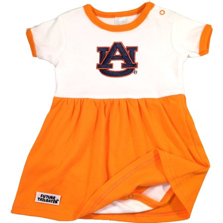 Auburn Tiger Baby Onesie Dress - Orange Trim (Daniel Tiger Dress)