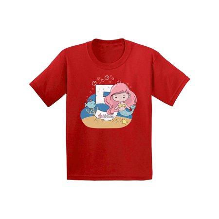 Awkward Styles Mermaid Birthday Toddler Shirt Mermaid Birthday Party for Girls 5th Birthday Party Mermaid Gifts for 5 Year Old Birthday Girl Tshirt Cute Birthday Mermaid Shirt I'm 5 Shirt for Kids - Cute 5 Year Olds