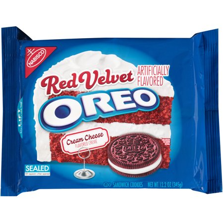 (2 Pack) Nabisco Oreo Sandwich Cookies Red Velvet, 12.2 OZ