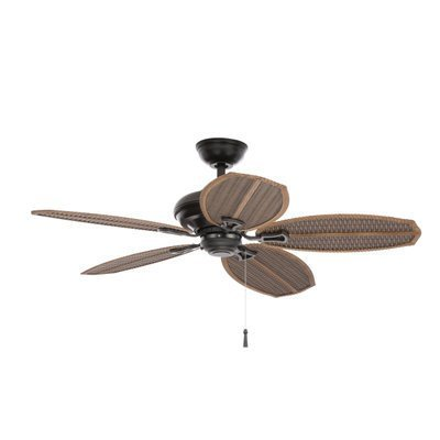 Hampton Bay Palm Beach Ii 48 In Outdoor Natural Iron Ceiling Fan 191410 By King
