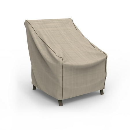 Budge Small Tan Tweed Patio Outdoor Chair Cover, English Garden ()