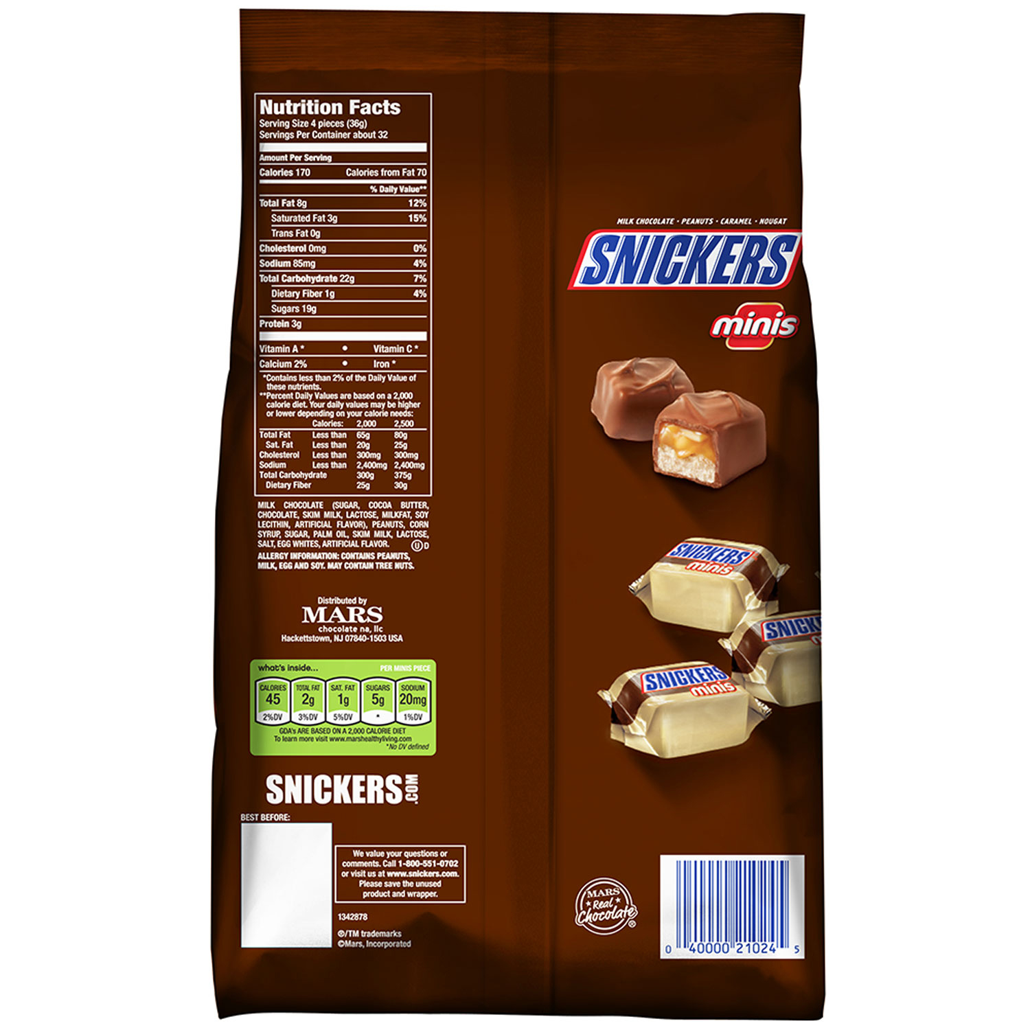 King size Snickers give you more of your favorite candy bar in every package! Snickers is one of the most popular confections available today. This savory confection was originally introduced by the Mars company back in the s. The name was inspired by the Mars family's favorite horse.