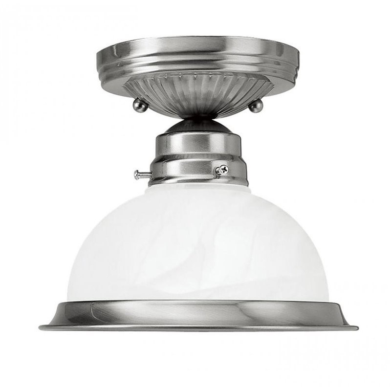 Livex Home Basics Ceiling Mount in Brushed Nickel
