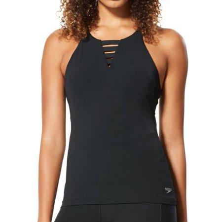 Women's Speedo 7723904 Aqua Elite High Neck Tankini Swim Top