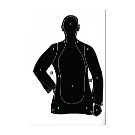 Black Target (Law Enforcement Targets B-21E Economy 25 Yard Silhouette Target 23x35 Inch)