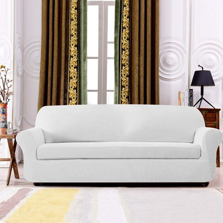 Strange Subrtex 2 Piece Spandex Stretch Sofa Slipcover Loveseat Off White Pdpeps Interior Chair Design Pdpepsorg