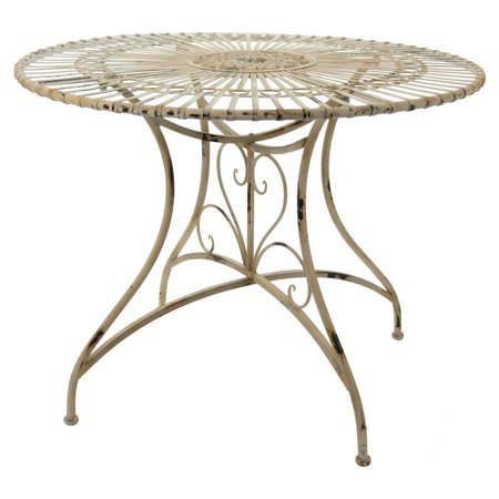Oriental Furniture Rustic Wrought Iron Round Patio Dining Table ()