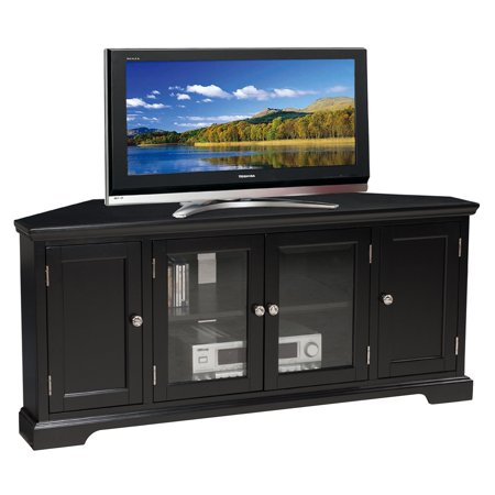 Leick Home Riley Holliday 56 in. Corner TV Stand - Black Oak Riley Holliday Furniture