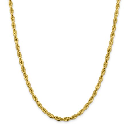 14k Yellow Gold 4.75mm Link Rope Chain Necklace 20 Inch Pendant Charm Regular