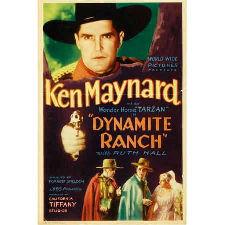 Dynamite Ranch Top Ken Maynard On Midget Window Card 1932 Movie Poster Masterprint