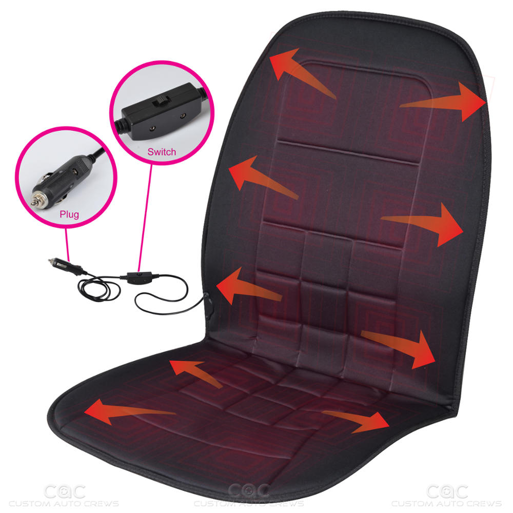BDK Travel Warmer - Heated Seat Cushion for Car, SUV, Van 12-Volt Padded Thermal Release