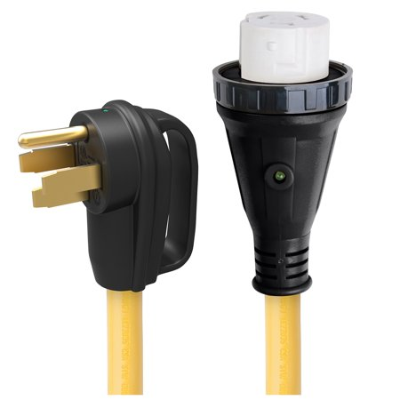 ParkPower 50ARVD25 Detachable Power Cord With Handle and Indicator Light - 50A, 25' (Marinco Power Cord)