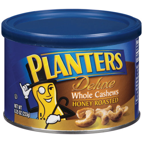 Planters Deluxe Whole Honey Roasted Cashews, 8.25 oz