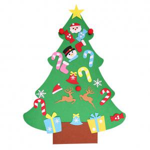 Fancyleo 3FT Large Wall Hanging Felt Christmas Tree Kit Childrens Kids Decorate Your Own (Decorate Your Own Halloween Bag)