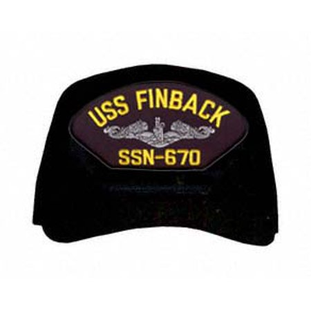 USS Finback SSN-670 ( Silver Dolphins ) Submarine Enlisted Cap ()