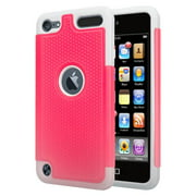 iPod Touch 5 Case,iPod Touch 6 Case, Slim Anti-Slip Armor Cover Case for Apple iPod touch 5, touch 6, 5th, 6th Generation - Hot Pink