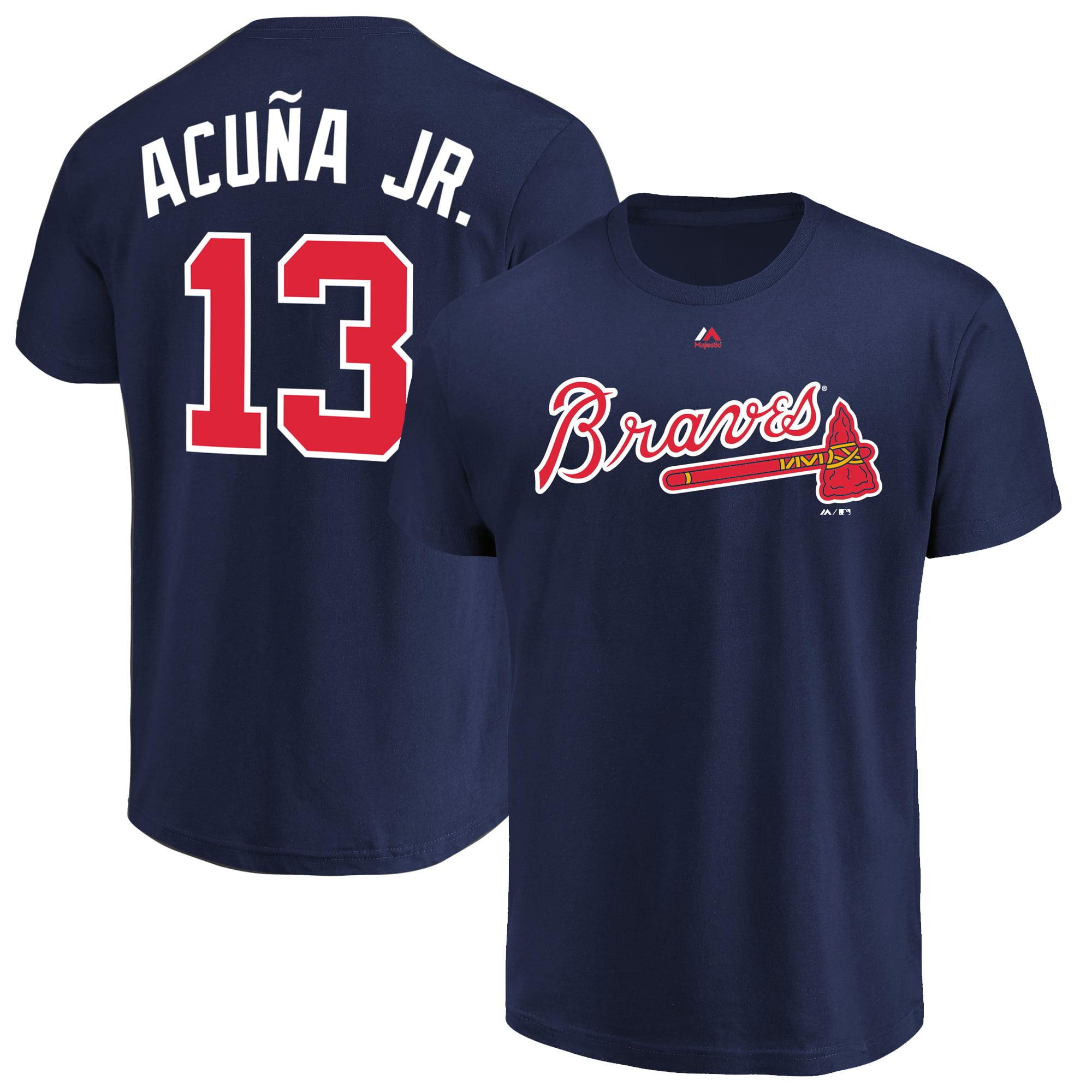 Ronald Acu-a Jr. Atlanta Braves Majestic Big & Tall Player T-Shirt - Navy