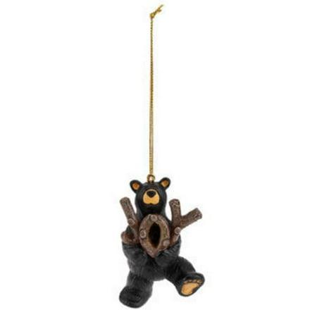 Jeff Fleming Bearfoots Hold Onto Joy Bear Christmas Tree Ornament 3005070219 New