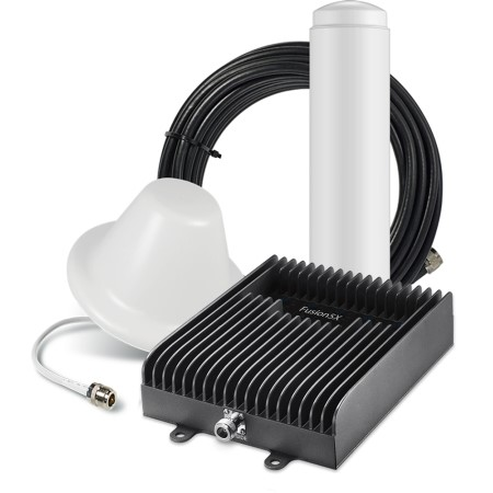 Surecall - SC-POLY5X-72-OD-KIT - SureCall Fusion5X cell phone signal booster kit increases cellular coverage up to 20, 000 sq. ft. for all carriers voice, text and 4G LTE data
