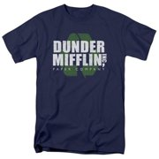 Trevco The Office-Recycle Mifflin Short Sleeve Adult 18-1 Tee, Navy - XL