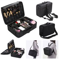 "Zimtown 16"" Professional Makeup Bag Cosmetic Case Storage Handle Organizer Artist Travel Kit"