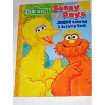 sesame street jumbo coloring book - sunny days