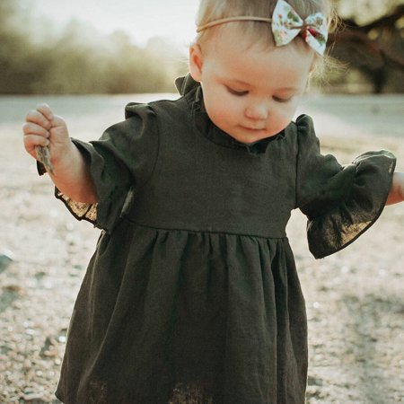 Iuhan Fashion Autumn Baby Girls Toddler Mini Long Sleeve Ball Gown Princess (Autumn Gown)