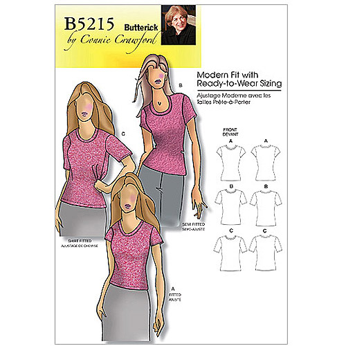 Butterick Pattern Misses' and Women's Petite Top, Women (XXL, 1X, 2X, 3X, 4X, 5X, 6X)