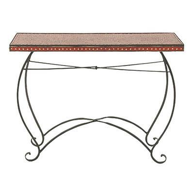 A Nation 23989 Metal Red Mosaic Console Table, 42 X 33 In. Furniture