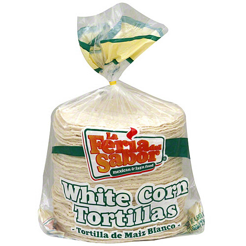 ***DISCONTINUED***La Feria Del Sabor White Corn Tortillas, 75 oz (Pack of 6)