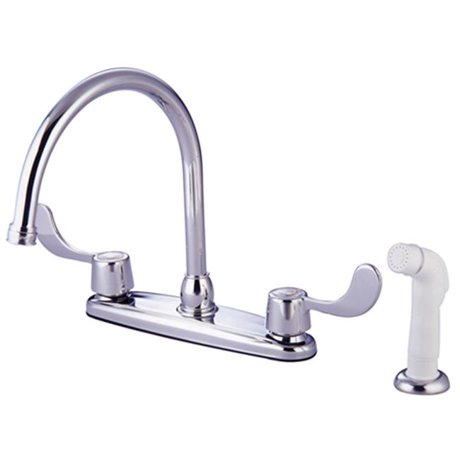 Kingston brass kb782 8 in kitchen faucet with blade handles for Kitchen faucet recommendations