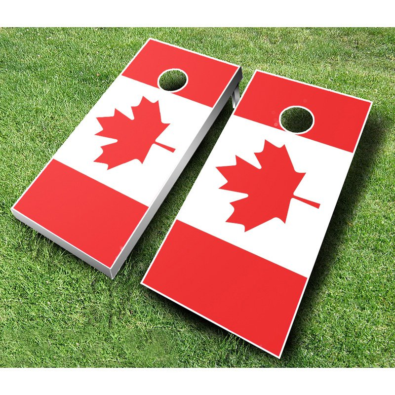 Ajj Cornhole Canadian Flag Tournament Cornhole Set