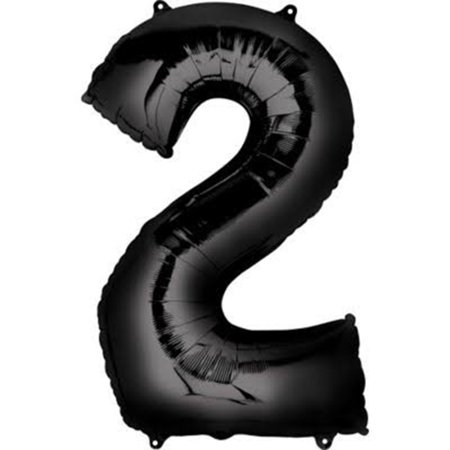 Giant Black Number 2 Foil Balloon 33
