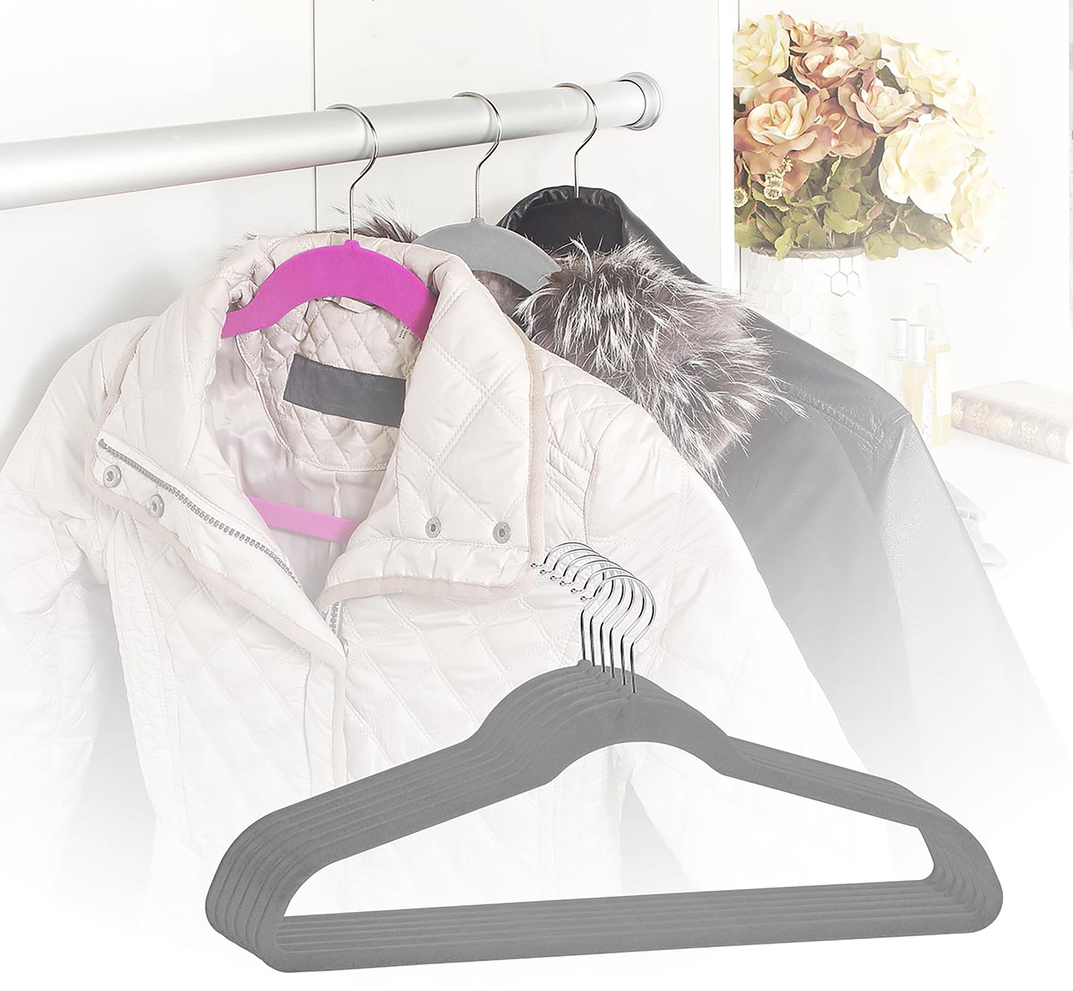 6 PACK Extra Wide Coat Hanger Suit Clothing Gray 10 Lbs Capacity Heavy Jacket 21