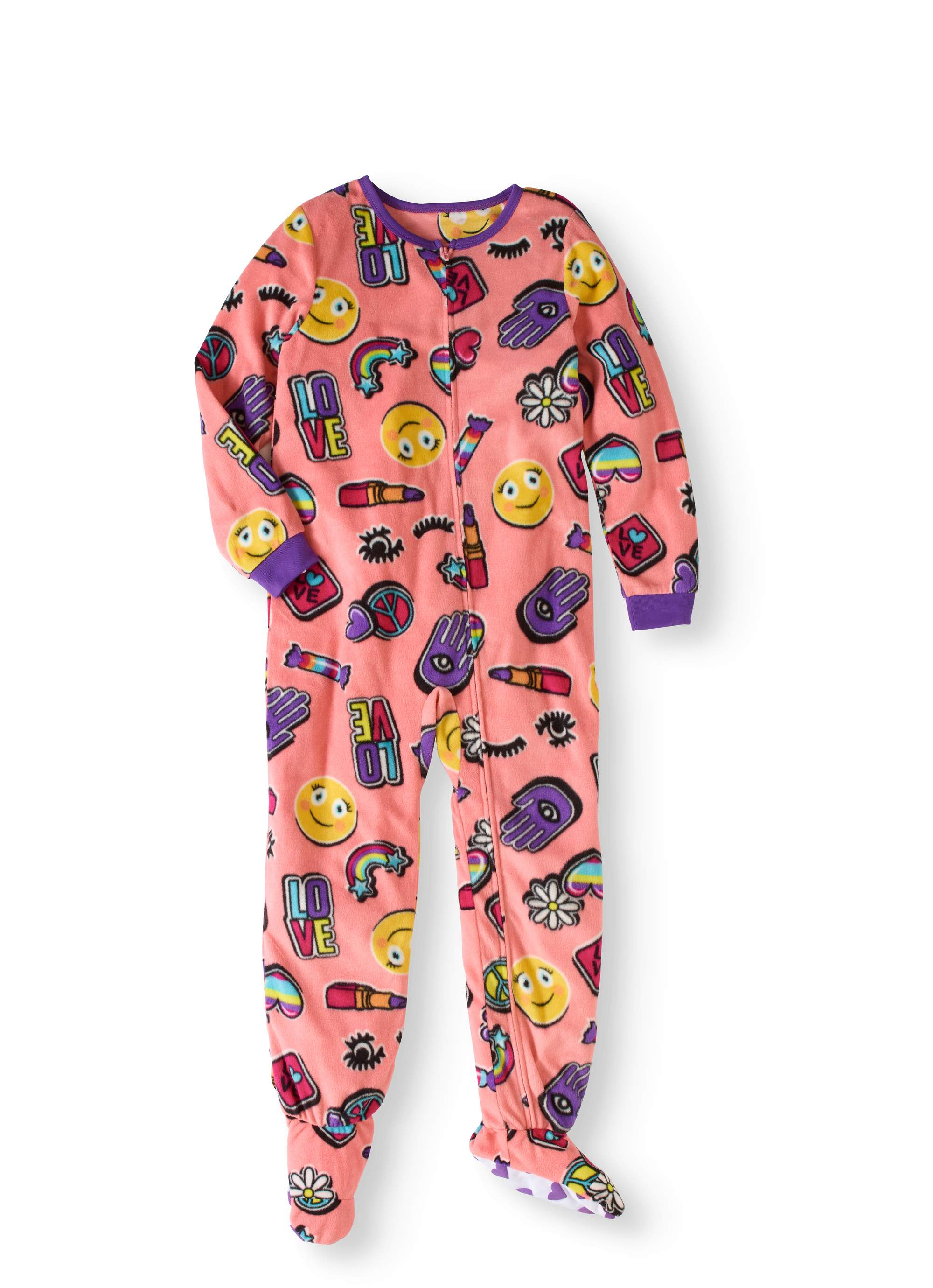 Girls' Emoji Patches Blanket Sleeper