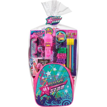 Rock Star Easter Basket With Toys And Assorted Candies  7 Pc
