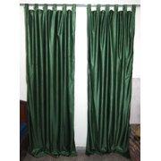 "Mogul Indian Sari Curtain / Drape / Panel Solid Green Pair Window Treatment Ideas (Size: Length: 84"".)"