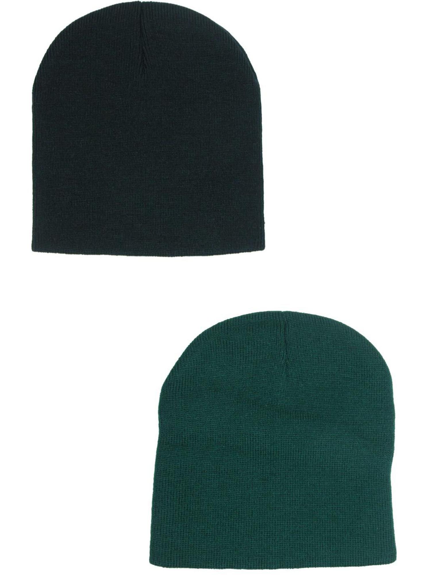 3M Thinsulate Lined Acrylic Beanie BlackGrey Stretch Fit Winter Warm Hat Cap Ski
