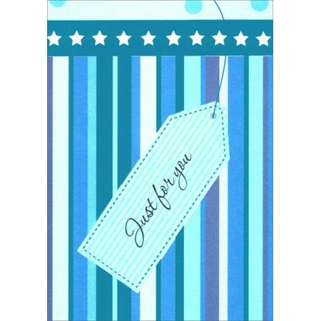 Freedom Greetings Blue Stars and Stripes Birthday - Star Trek Birthday Cards