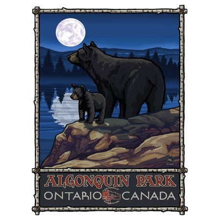 Algonquin Park Ontario Canada Bear Lake Moon Hills Travel Art Print Poster by Paul A. Lanquist (9